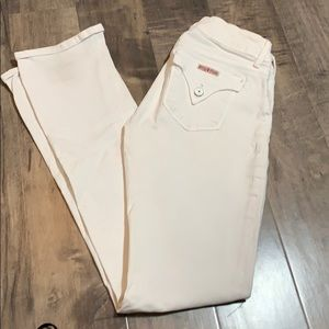 Hudson white bootcut jeans